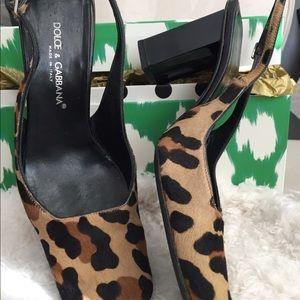 Dolce & Gabbana Skin Slingbacks